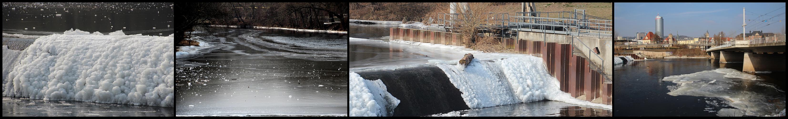 Eisimpressionen in Jena an der Saale