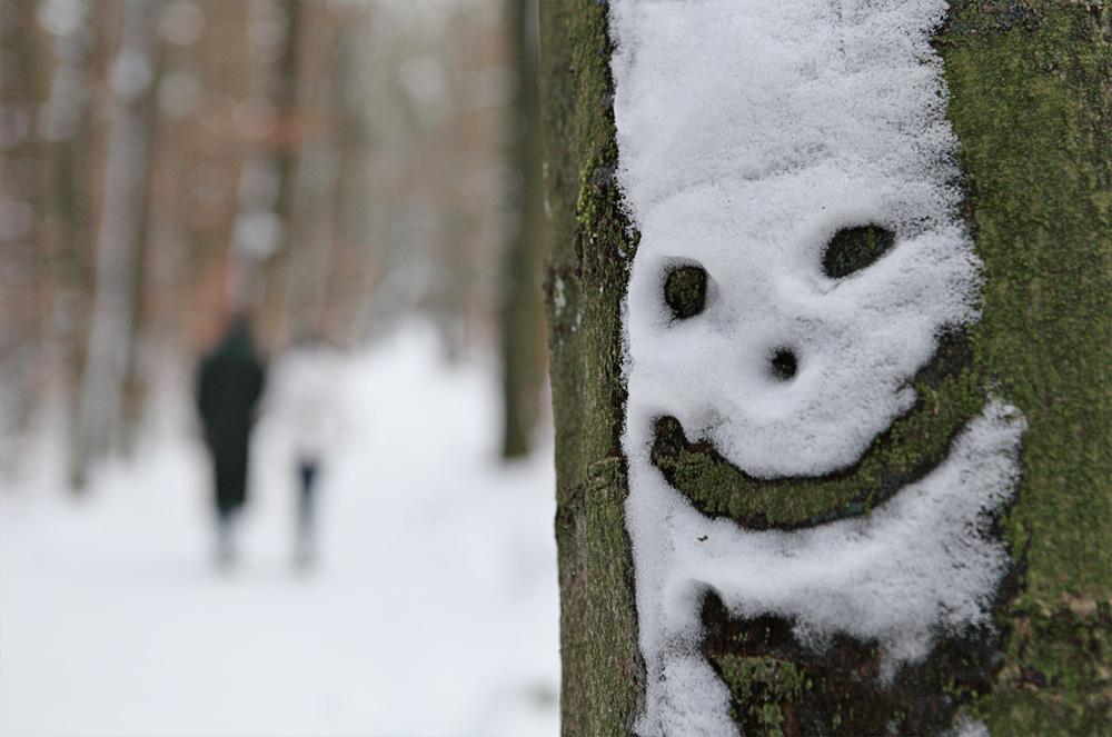 Eiskaltes Gesicht