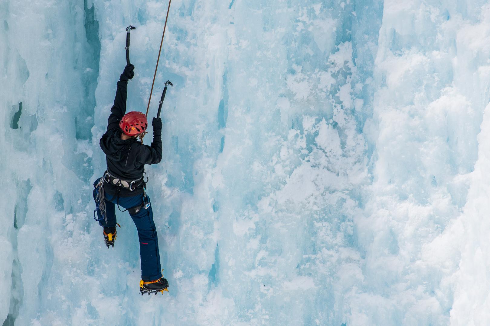 Eisklettern in Pontresina