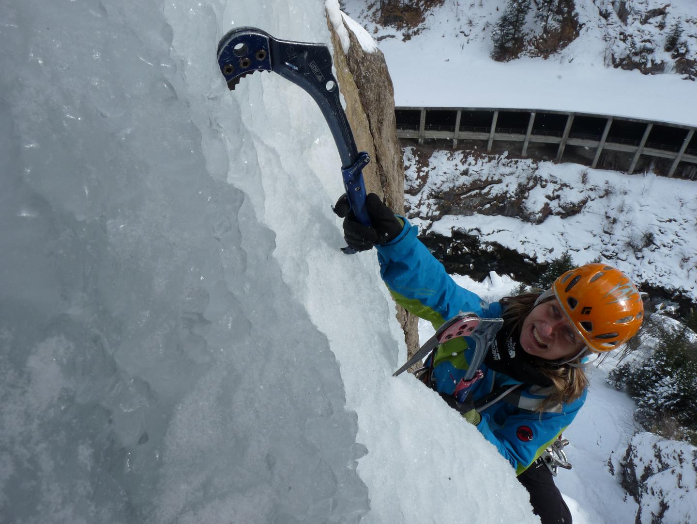 Eisklettern in Vals