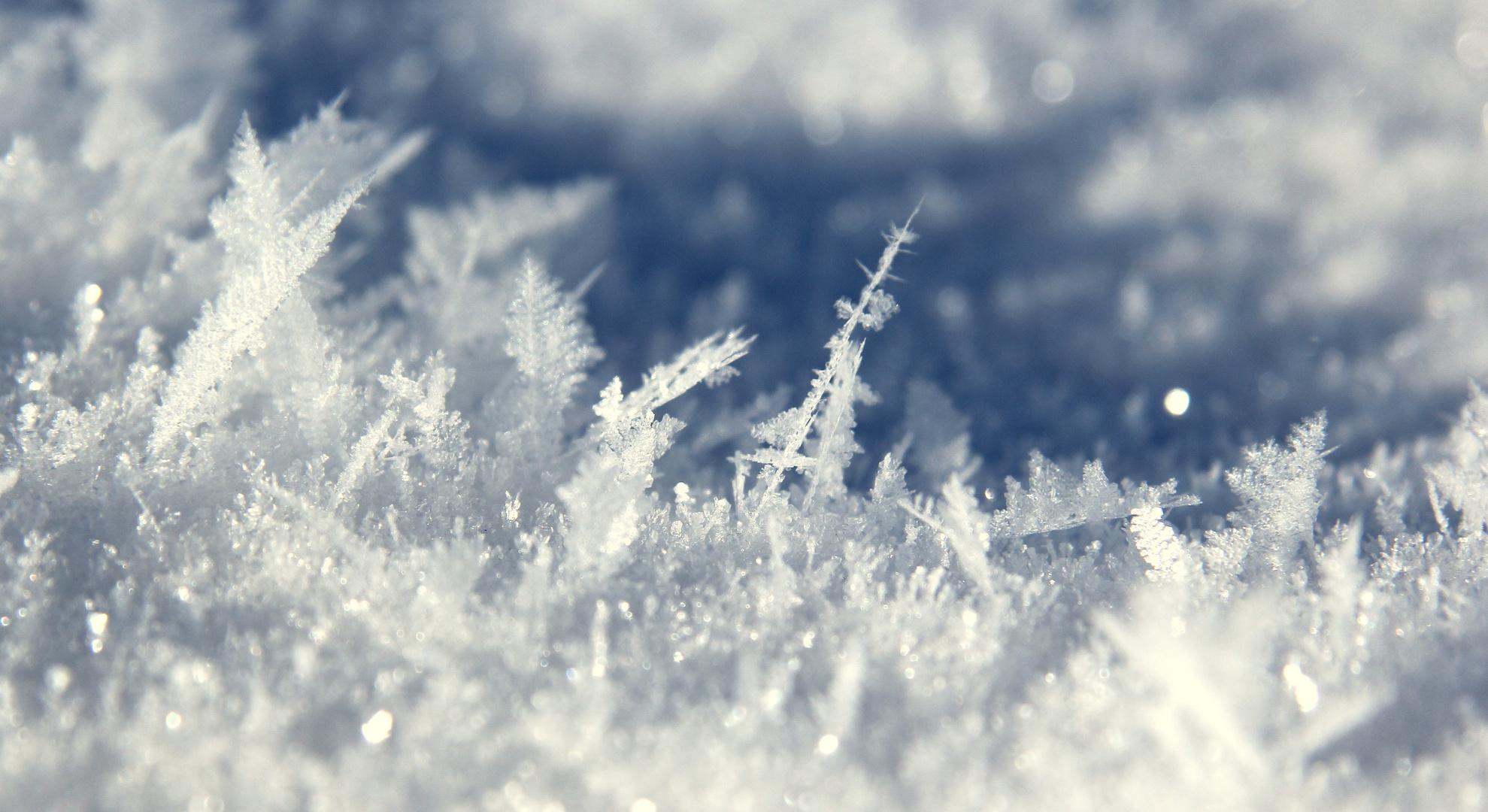 Eiskristalle Im Sonnenlicht