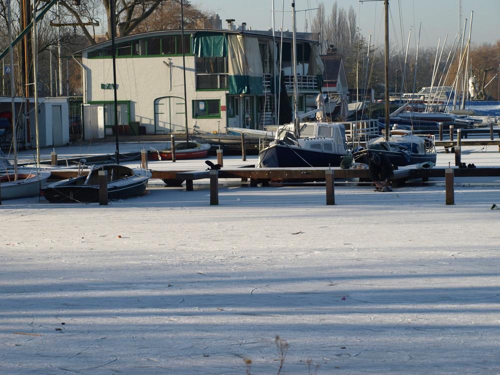 Eisläufer am Kralinger See ( Kralingse Plas ) -8-