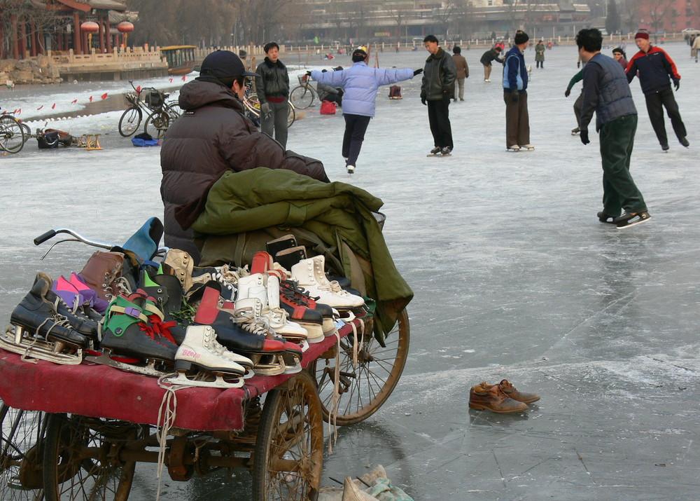 Eislauf-Saison in China - die Schuhgröße bitte?