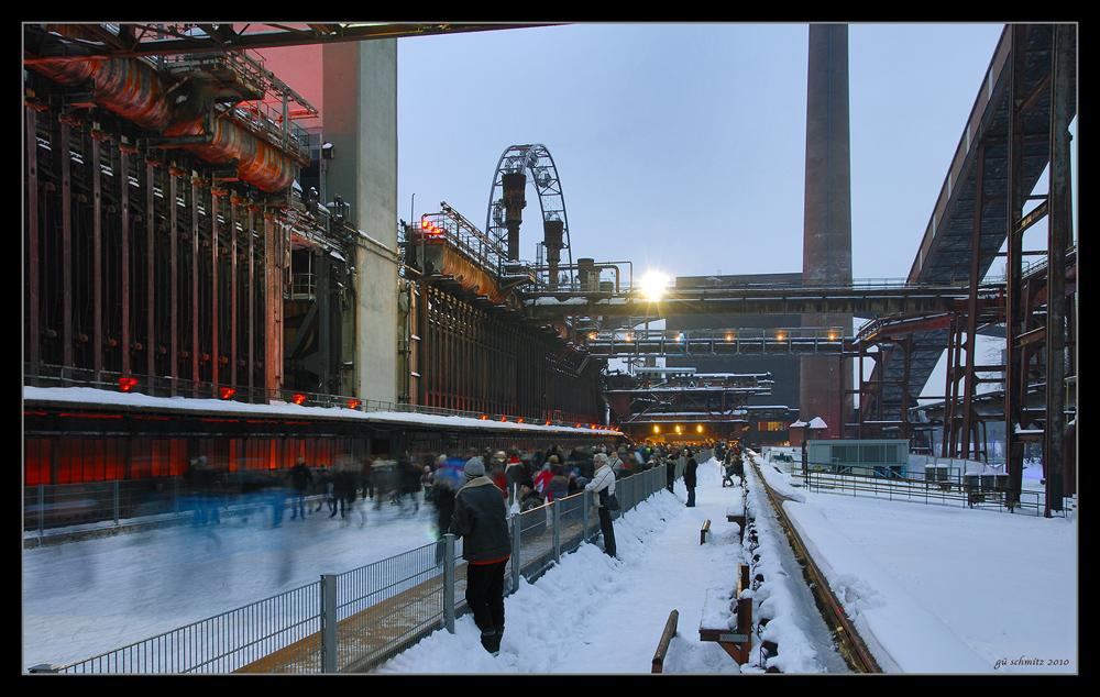 Eislaufen auf Zollverein