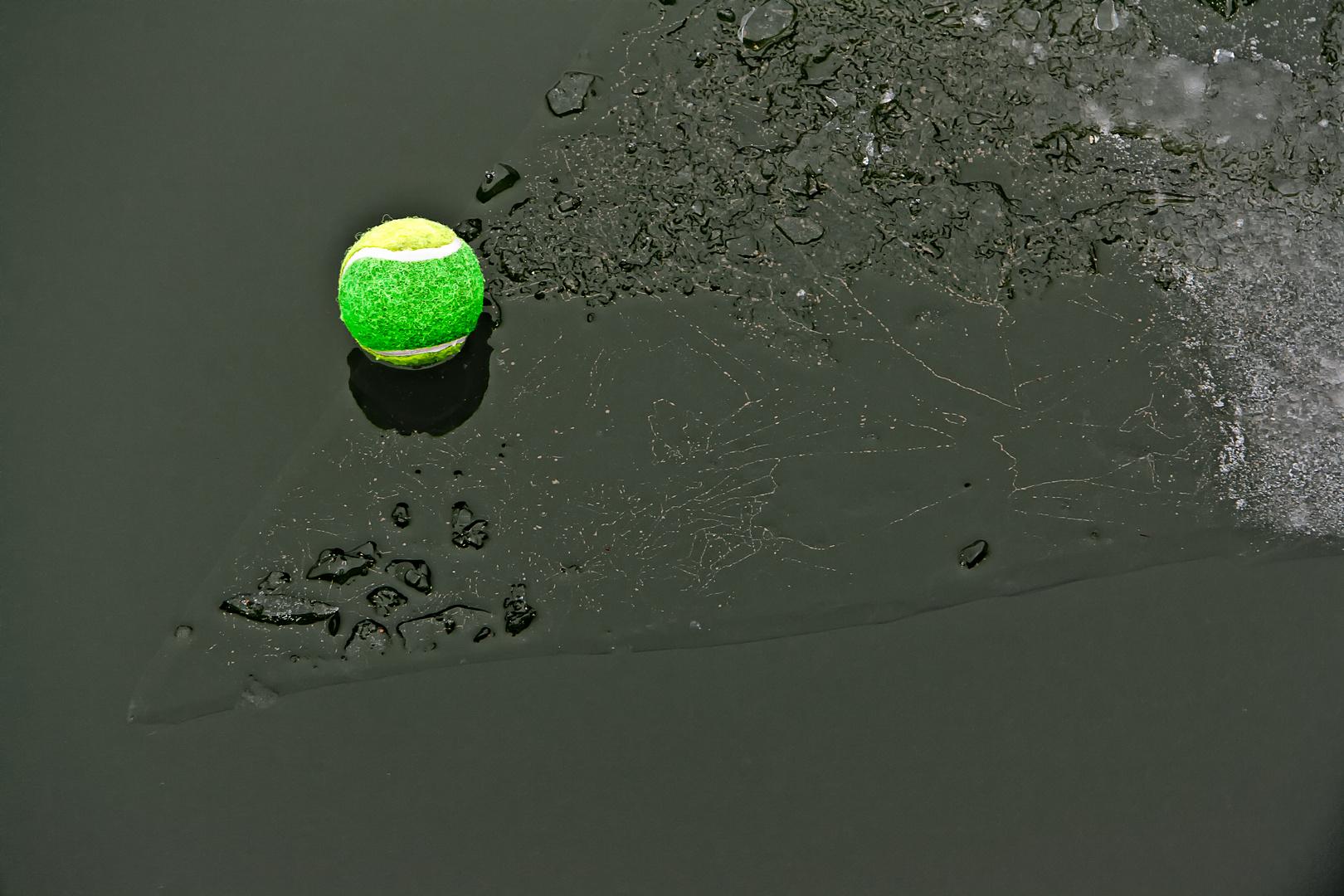 Eisscholle mit Ball