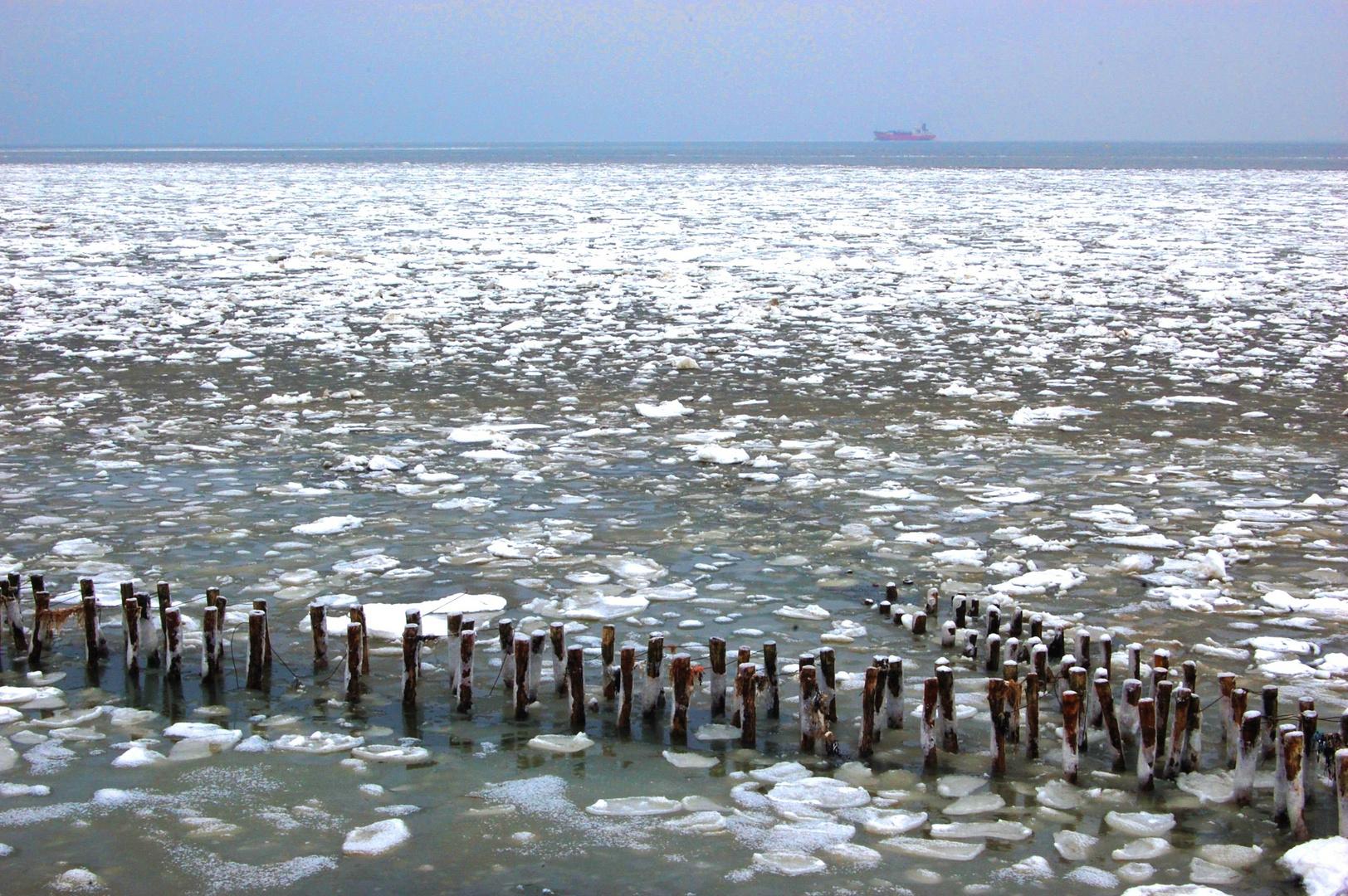 Eisschollen auf der Nordsee