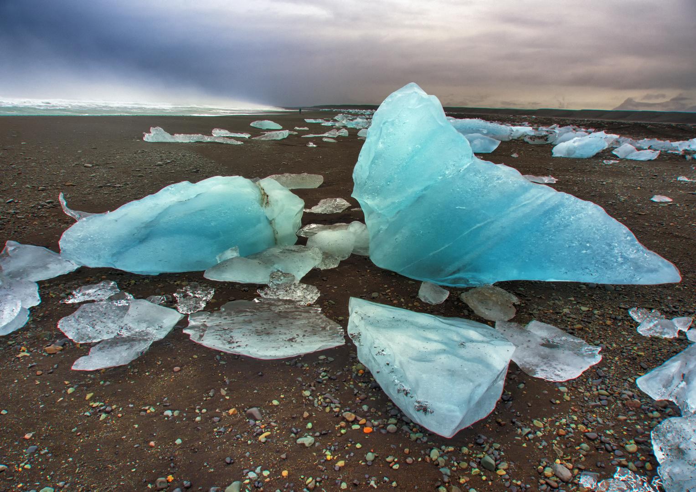 Eisskulpturen am Strand