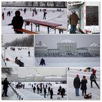 Eissport auf dem Nymphenburger-Kanal..