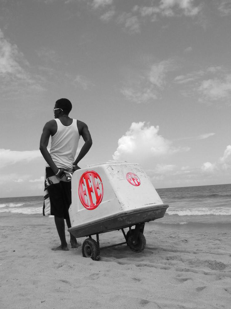 Eisverkäufer am Strand