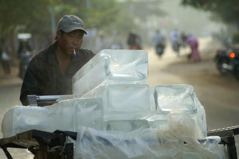 Eisverkäufer in Vietnam