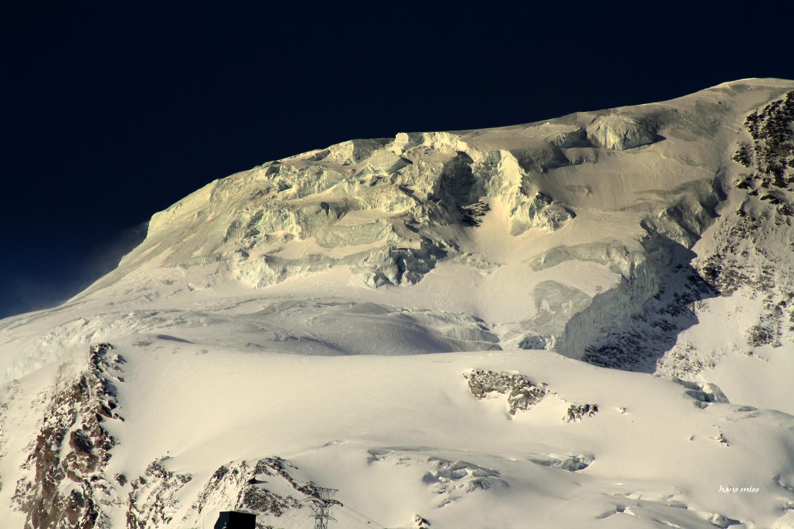 Eiswelt oberhalb von Saas Fee