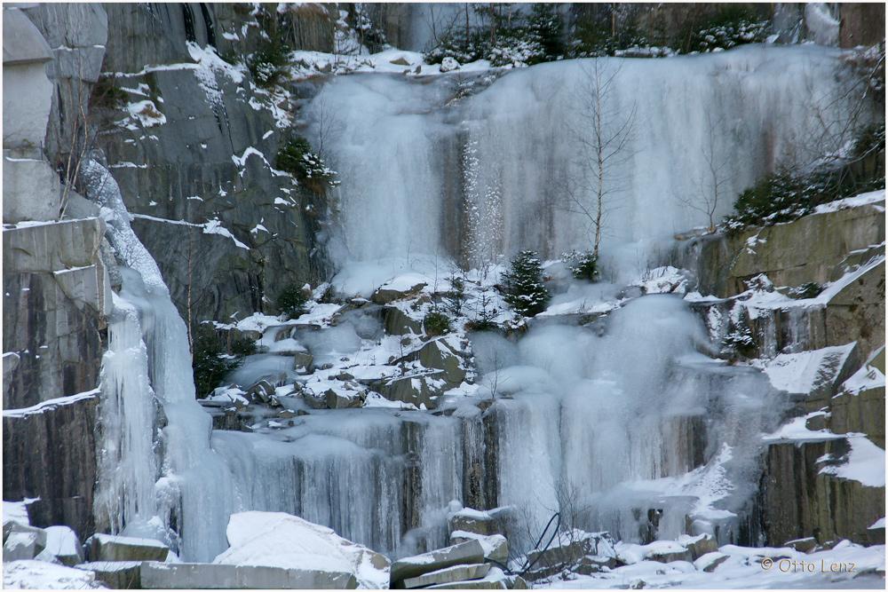 Eiswelten im Steinbruch