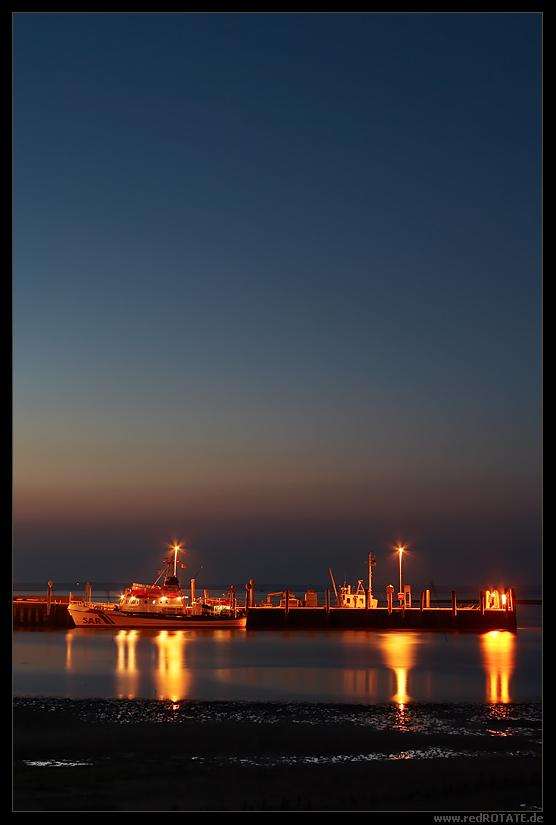 Eiswette im Amrumer Hafen