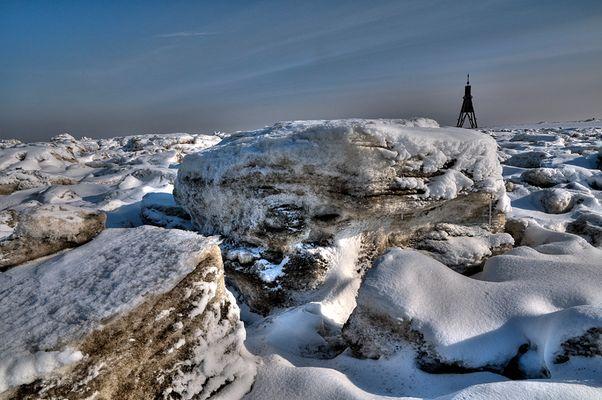 Eiswüste vor Cuxhaven
