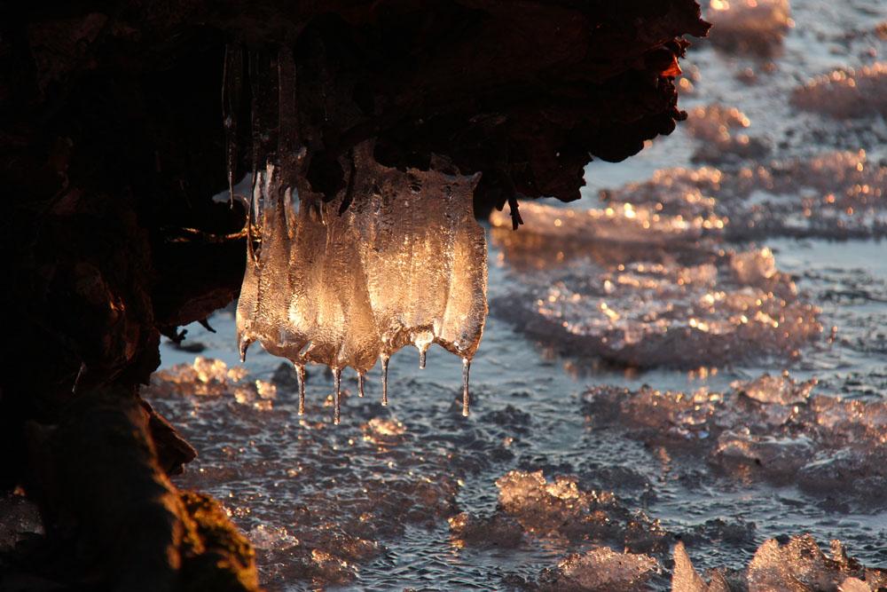 Eiszapfen am Eutiner See