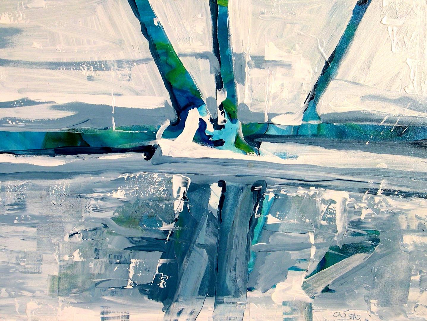 Eiszeit am Fluss
