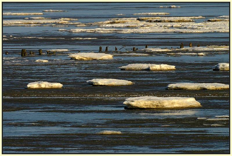 Eiszeit am Jadebusen