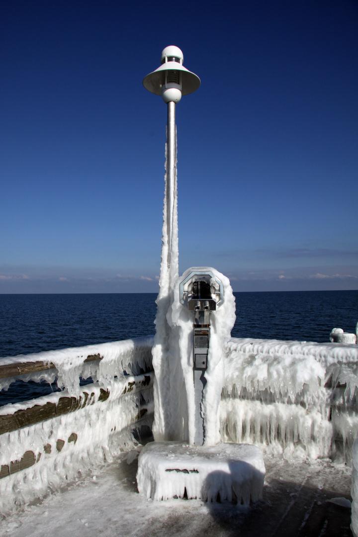 Eiszeit auf der Seebrücke