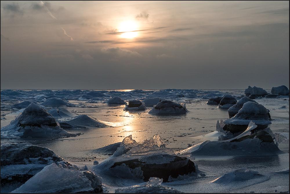 Eiszeit auf Rügen..
