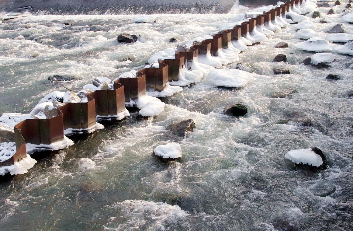 Eiszeit im Neckar