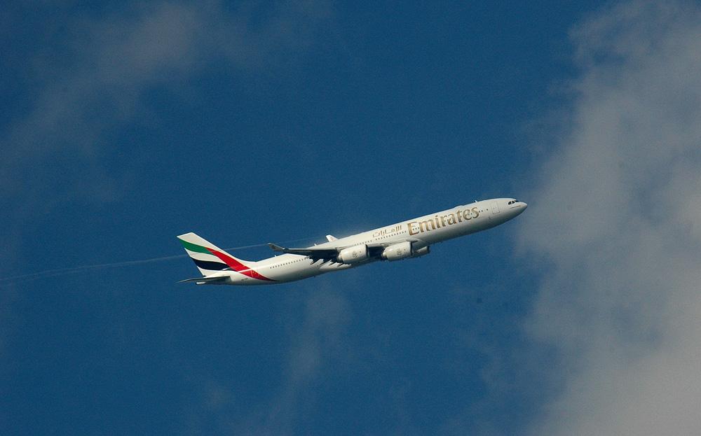 EK 206 auf dem Weg nach Dubai