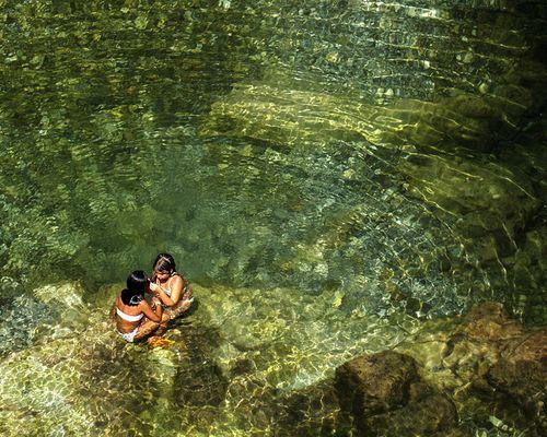 El baño en el rio