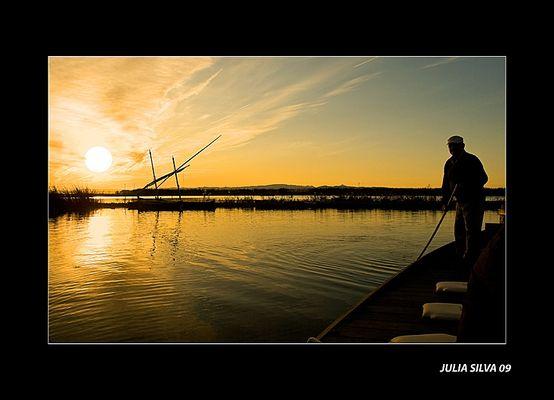 El barquero.