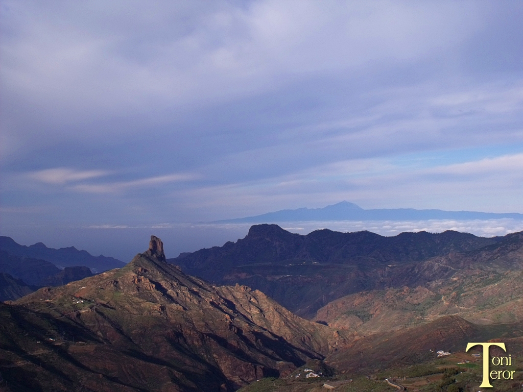 El Bentayga y El Teide