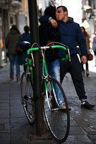 El beso ciclista