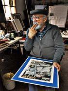 El caricaturista Fernando Daza (para Christian Bertero).