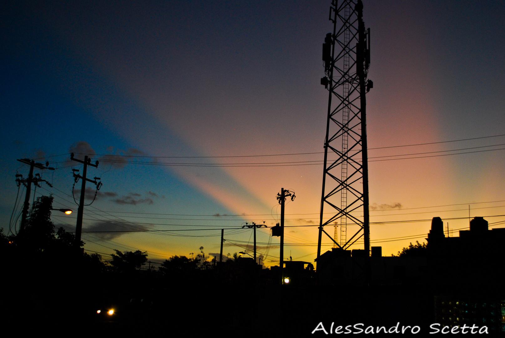El cielo sobre Cancun