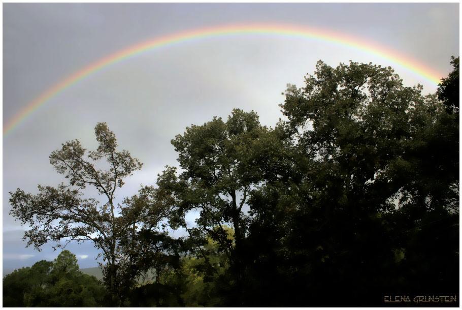 El cielo viste con cinta de colores