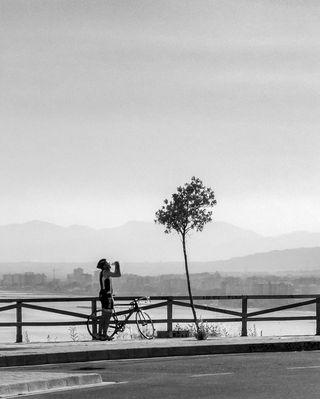 El descanso del ciclista