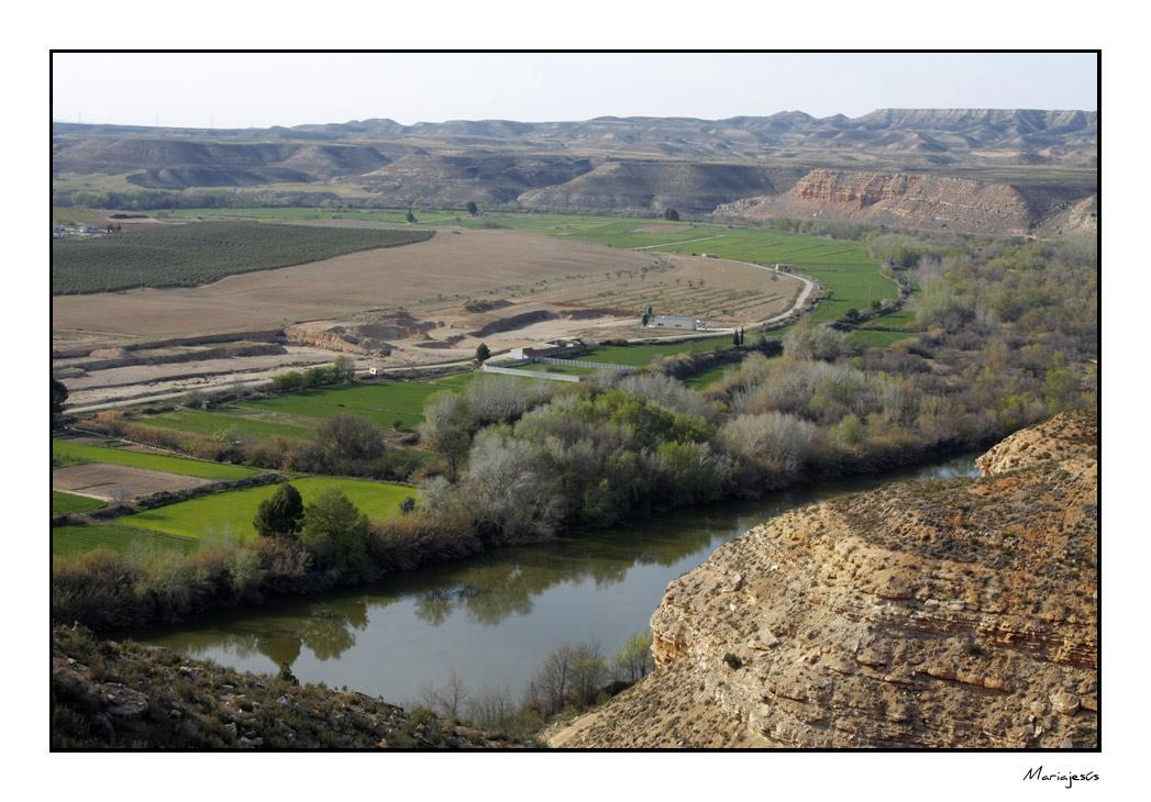 El Ebro a su paso por Sástago