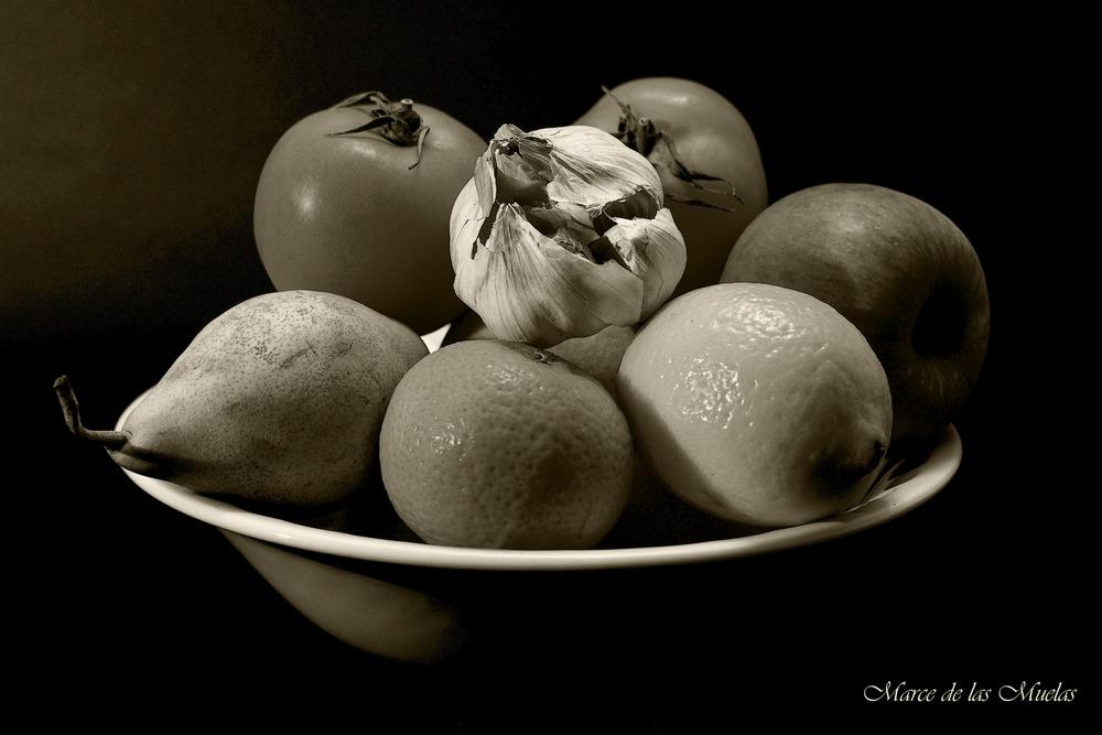 ...el frutero B/N...