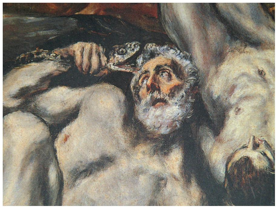 """El Greco bedeutet mir sehr viel - hier ein ausschnitt des gemäldes in öl """"laokoon"""" es ist"""