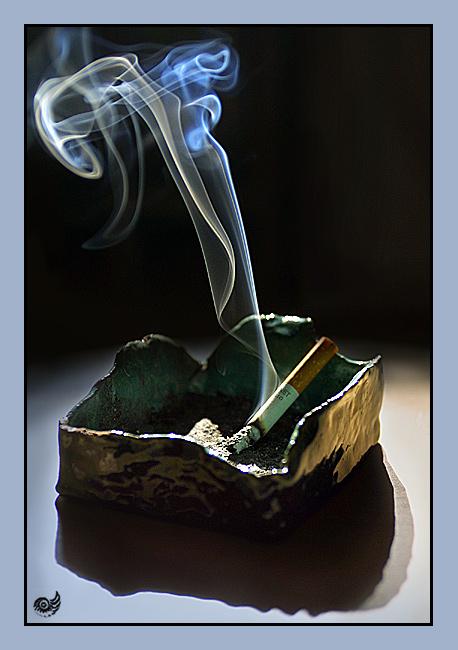 el humo azul