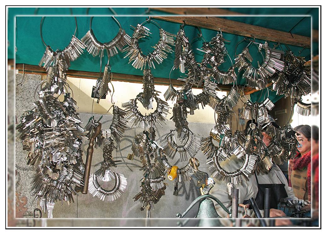 El llavero y su puestecito con miles de llaves MiniKM3.5