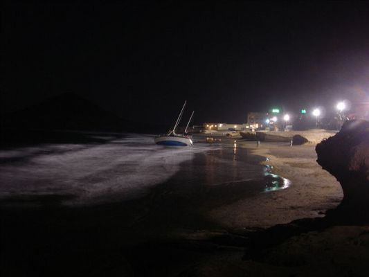 El Medano - Boot in der Bucht