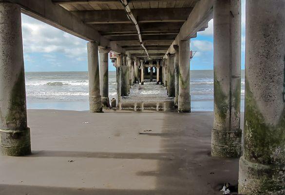 El muelle y la playa
