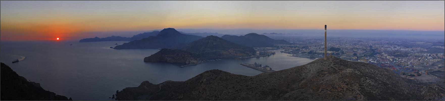 El ocaso desde el Monte de San Julián -Cartagena-