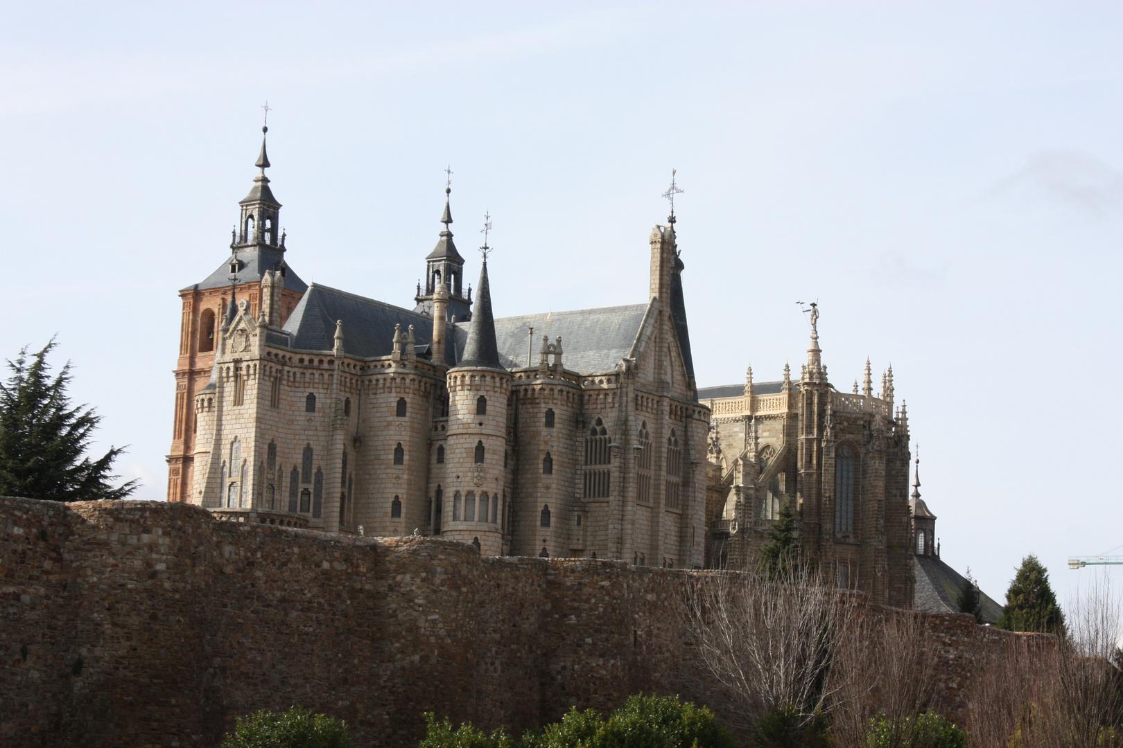 El Palacio Episcopal de Astorga - Leon.