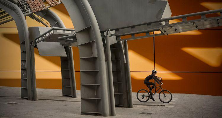 El paseo de la ciclista