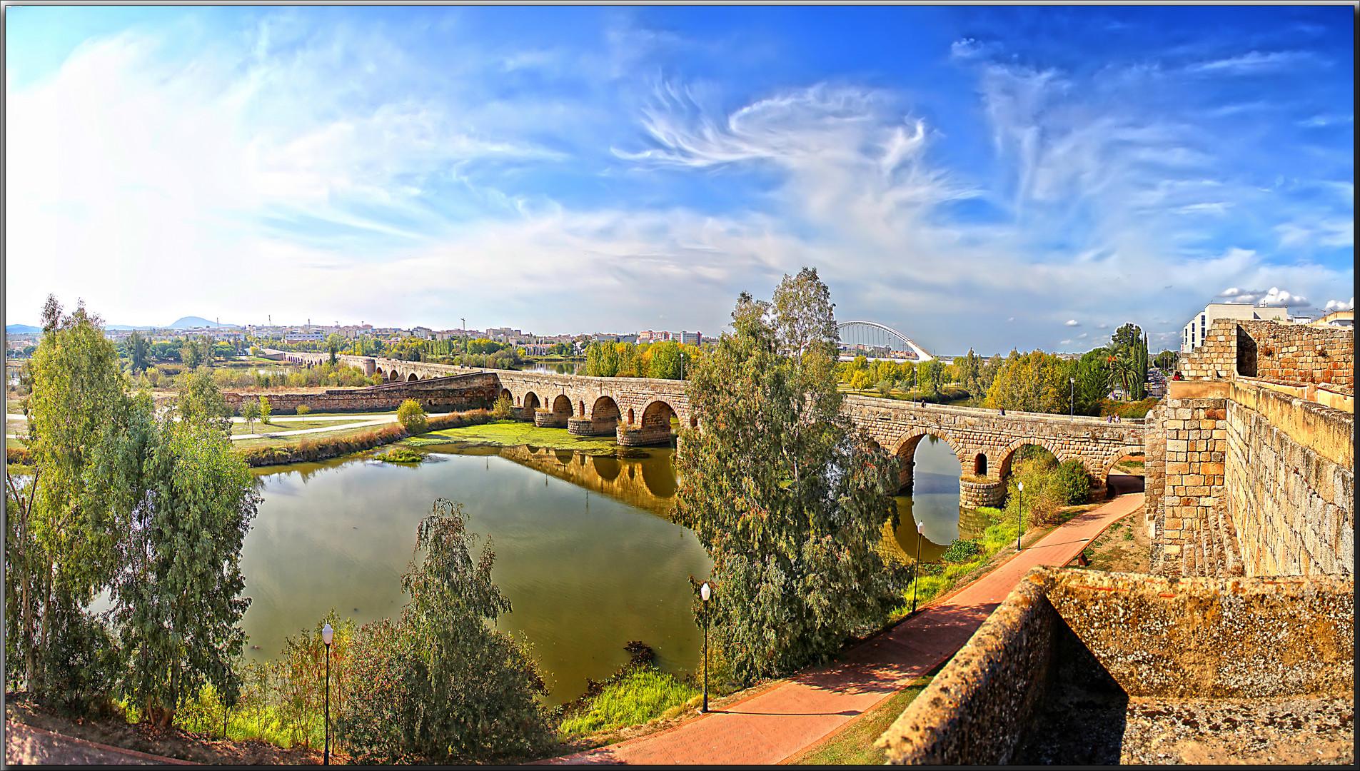 El puente romano mas largo, en Mérida