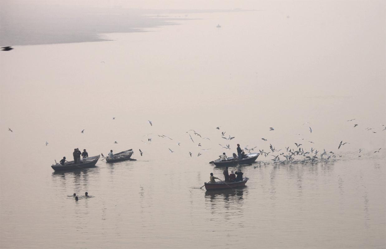 El río Ganges, Benarés, La India