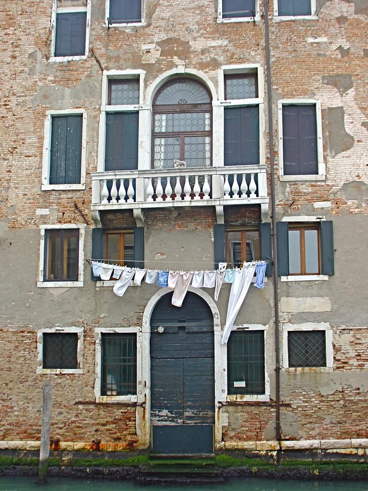 El tendedero de palacio. Venecia.