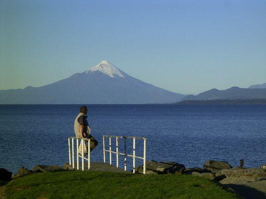 El turista y el volcan