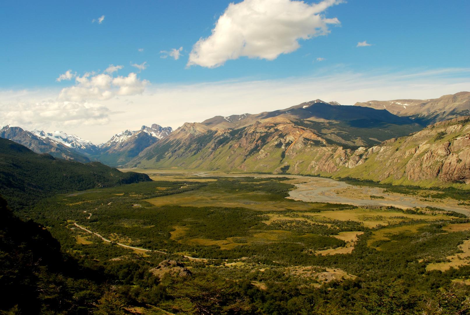 el valle del rio de las vueltas - El Chalten