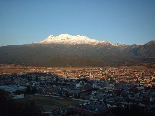 """El volcan """"La Mujer Dormida"""" Iztaccíhuatl"""