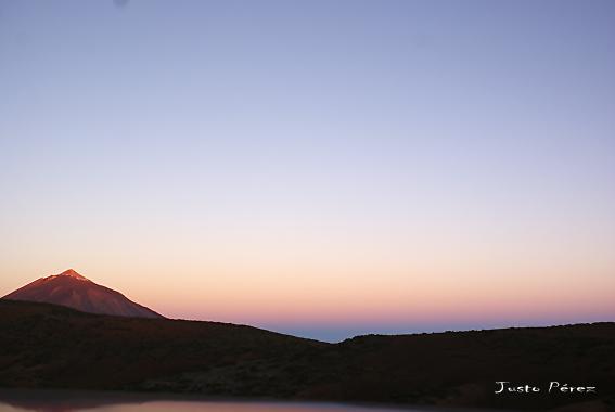 El volcán Teide (Tenerife) de buena mañana